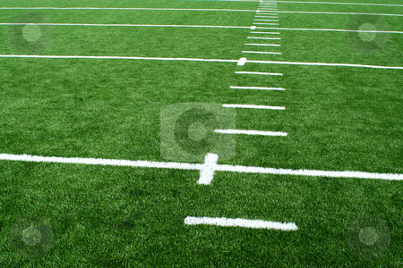 Astro turf football field stock photo, A Astro turf football field by Jim Mills