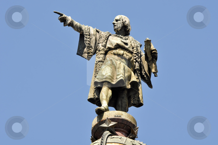 Christopher Columbus Day Statue stock photo, Christopher Columbus Day Statue by Brandon Bourdages