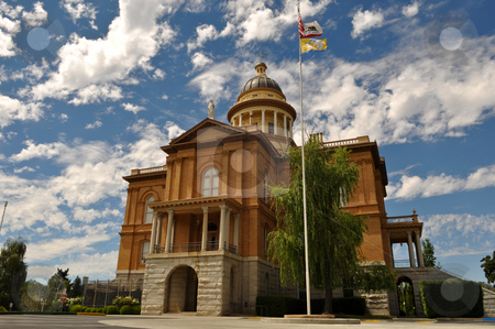 Auburn Courthouse stock photo, Auburn California Historic Landmark Courthouse in Placer County by Brandon Bourdages