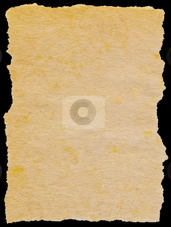 Old torn paper isolated on a black background. stock photo, Old torn paper isolated on a black background. by Stephen Rees