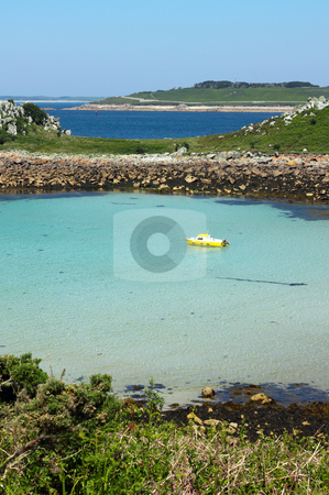 The bay between St. Agnes and Gugh, Isles of Scilly. stock photo, The bay between St. Agnes and Gugh, Isles of Scilly. by Stephen Rees