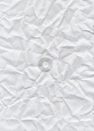 Crumpled white paper texture background. stock photo, Crumpled white paper texture background. by Stephen Rees