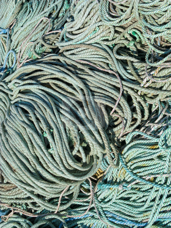 Lots of fishing boat ropes close up. stock photo, Lots of fishing boat ropes close up. by Stephen Rees