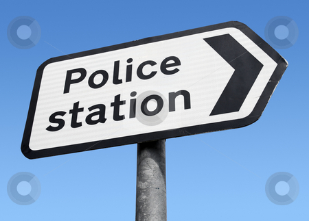 British Police station sign. stock photo, British Police station sign. by Stephen Rees