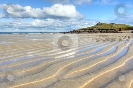 Porthmeor beach sand ripples, St. Ives Cornwall UK. stock photo, Porthmeor beach sand ripples, St. Ives Cornwall UK. by Stephen Rees