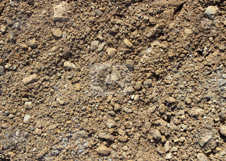 Soil and stony ground texture. stock photo, Soil and stony ground texture. by Stephen Rees