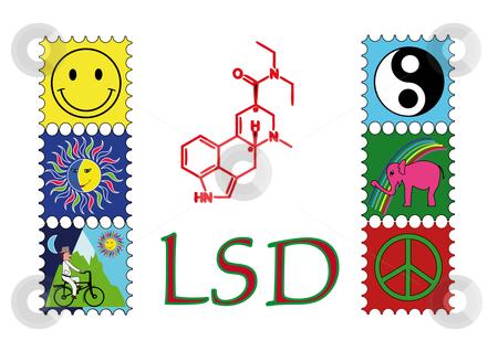 LSD  stock vector clipart, LSD by Alexander Limbach