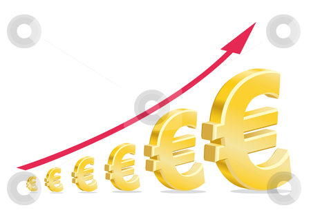 European currency symbol  stock vector clipart, European currency symbol by Alexander Limbach