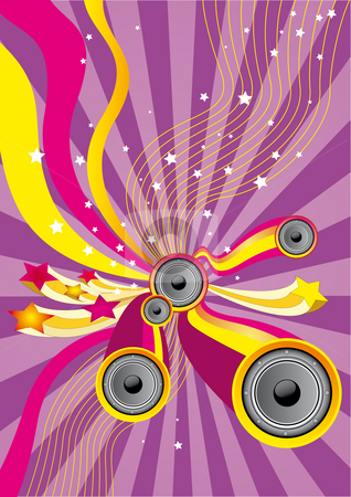 Fun Music stock photo, Flyer or poster for your party. by Alexander Limbach
