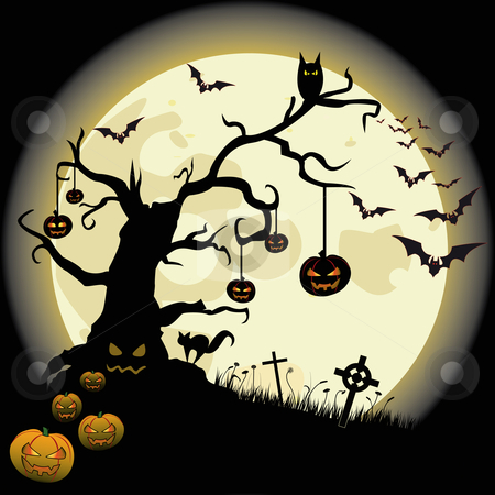 Halloween stock vector clipart, Halloween flyer. by Alexander Limbach