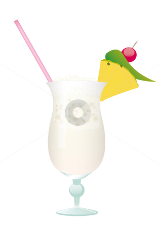 Cocktail Pina Colada  stock vector clipart, Cocktail Pina Colada by Alexander Limbach