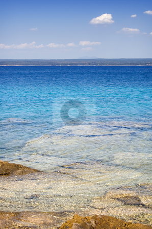 Beach stock photo, Beautiful beach on a sunny summer day by Gordan Poropat