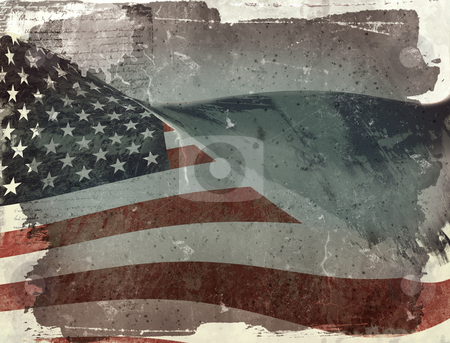Flag of USA stock photo, Computer designed highly detailed grunge illustration - Flag of USA by Gordan Poropat