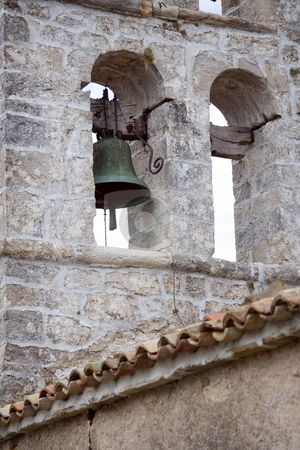 Old church stock photo, Church bell on an old European church by GPimages