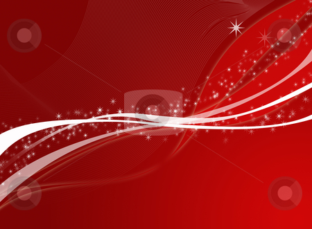 Christmas background stock photo, Editable vector red christmas background with space for your text by GPimages