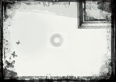 Grunge border stock photo, Computer designed highly detailed grunge border with space for your text or image. Great grunge layer for your projects. For more  images like this check my portfolio. by GPimages