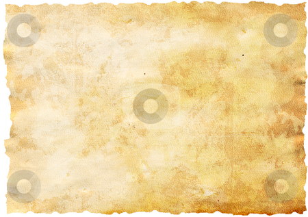 Antique paper stock photo, Highly detailed textured antique paper isolated on white , great grunge background for your projects with space for your text or image by GPimages