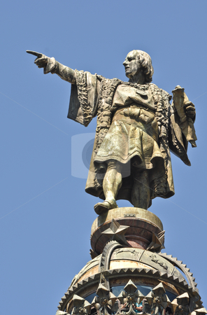 Christopher Columbus Statue stock photo, Christopher Columbus Day Statue in Barcelona Spain by Brandon Bourdages