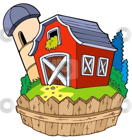 cartoon barn clipart image