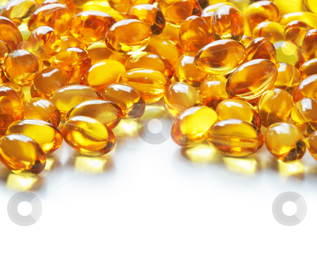 Omega 3 stock photo, Omega 3 fish oil gel capsules by Stocksnapper 