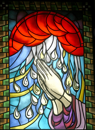 Confirmation stock photo, Confirmation, stained glass by Zvonimir Atletic