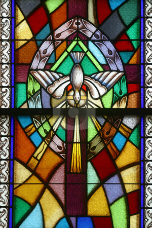 Holy Eucharist, Seven Sacraments stock photo, Holy Eucharist, Seven Sacraments, Stained glass church window by Zvonimir Atletic