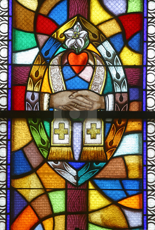 Matrimony, Seven Sacraments stock photo, Matrimony, Seven Sacraments, Stained glass church window by Zvonimir Atletic