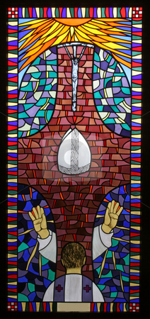 Holy Orders  stock photo, Holy Orders, stained glass by Zvonimir Atletic