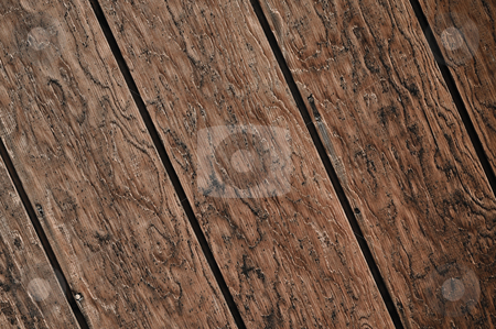 Diagonal Dark Wood Plank Background stock photo, Diagonal Dark Wood Plank Background with interesting design by Brandon Bourdages