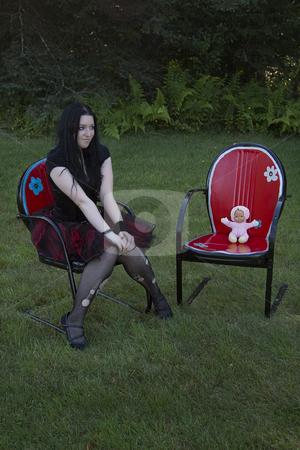cute little goth girl