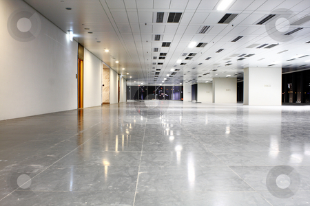 Modern hall stock photo, Modern hall and nobody image at night by Keng po Leung