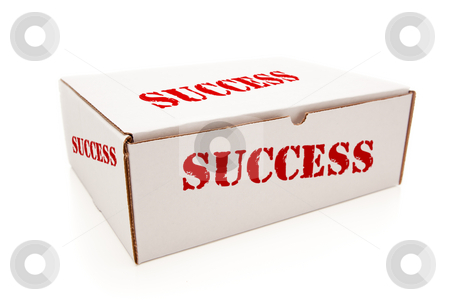 White Box with Success on Sides Isolated stock photo, White Box with the Word Success on the Sides Isolated on a White Background. by Andy Dean