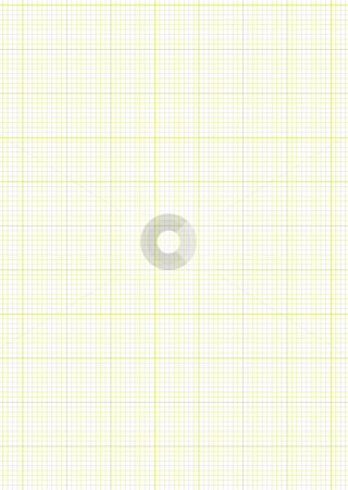 Graph paper A4 sheet green stock vector clipart, Green A4 grid or graph paper with white maths background by Michael Travers