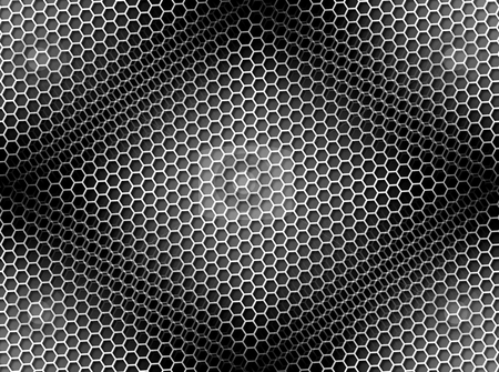 Honeycomb Background Seamless BW stock photo, Seamless black and white honeycomb on brown background with light effect. by Henrik Lehnerer