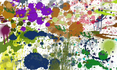 Art background stock photo, Art background with splashes and spray paint by Alex Varlakov