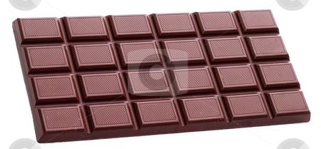 Chocolate bar isolated stock photo, Chocolate bar isolated on white background by Alex Varlakov