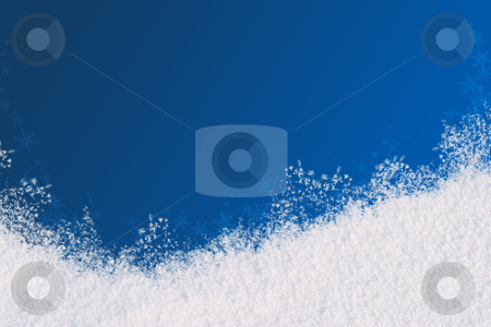 Winter background stock photo, Winter background for the congratulations. The blue background and natural snow. Space for text by Alex Varlakov