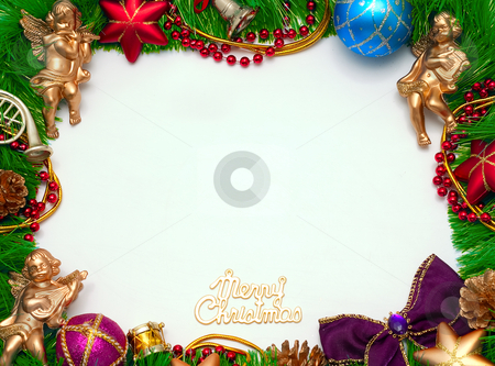 Christmas frame stock photo, Christmas frame for congratulations by Alex Varlakov