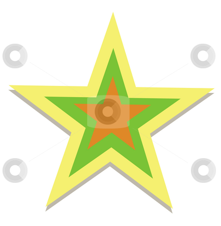 Star stock photo, Drawing of beautiful star in a white background by Su Li