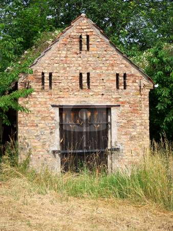 Shed in Petzow stock photo, Shed in Petzow, Brandenburg, Germany by Heike Jestram