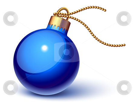 Blue christmas ornament stock vector clipart, Blue christmas ornament by Laurent Renault