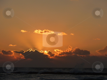 Sunset at the Mediterranean stock photo, Evening at the Mediterranean by Heike Jestram