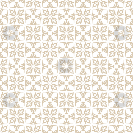 Floral beige seamless stock vector clipart, Modern classic style background seamless wallpaper design pattern by Michael Travers