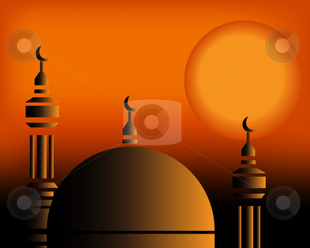 Islamic Illustration stock vector clipart, Islamic Illustration by Nabeel Zytoon