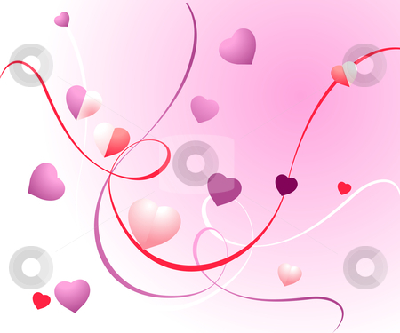 Abstract Background stock vector clipart, Valentine Illustration, perfect concept for valentine's day easy to use it as greeting card, poster, flyer, Ad. by Nabeel Zytoon