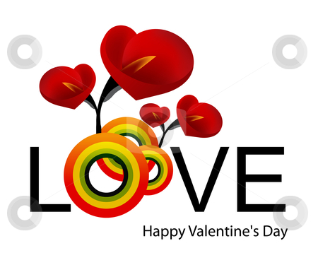 Love Illustration stock vector clipart, Creative Illustration for valentine day. by Nabeel Zytoon