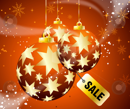 Christmas Sale stock vector clipart, Sales and discount concept Illustration by Nabeel Zytoon