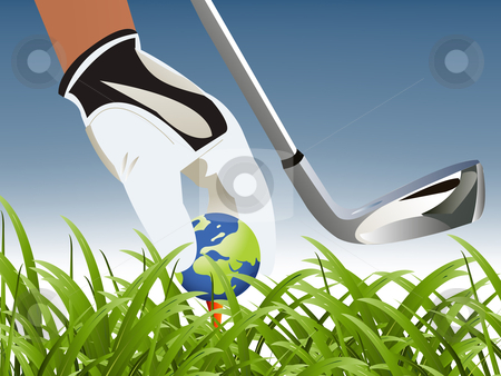 Golf Sport stock vector clipart, Golf Sport concept illustration . by Nabeel Zytoon