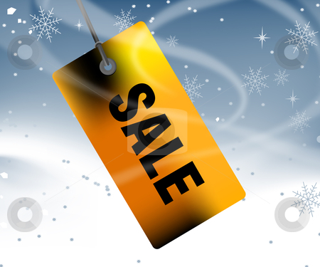 Price tag winter Sale stock vector clipart, Sales and discount concept Illustration by Nabeel Zytoon