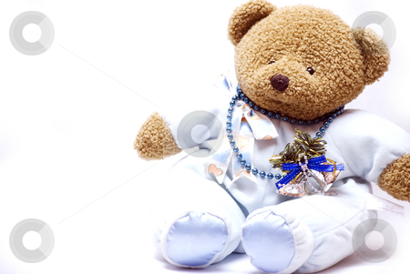 Soft bear stock photo, Soft bear with Christmas decorations by Kirill Kedrinski
